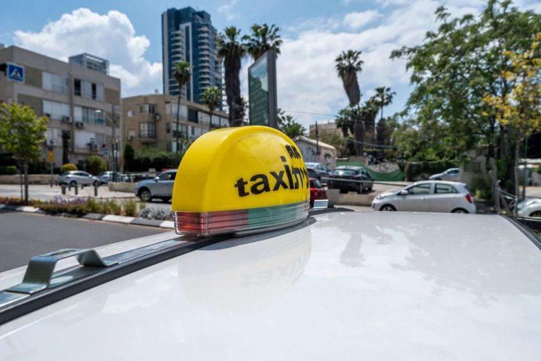 תמונה של מונית בתל אביב